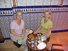 The waiter kindly took this picture of Susan and me, with our food, in the Moroccan restaurant where we ate in Granada.