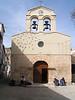 Iglesia de Pontones, cuando hicimos una parada en nuestra ruta para dar de comer a Diego. Las dos monjitas nos miraban con asombro, al levar a nuestro hijo de ocho meses en ruta de montaña