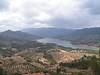 Sierra de cazorla con los campos de olivos habituales de Jaen