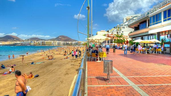 Las Palmas, Gran Canaria, Las Canteras Beach