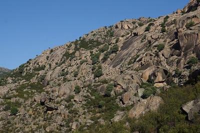 Rock climbing at la Pedriza