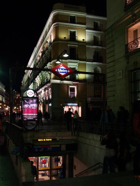 Metro de Madrid en la Puerta del Sol