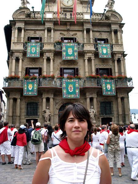 El ayuntamiento, chupinazo (Navarra)
