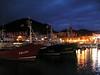 El puerto de Lekeitio de noche