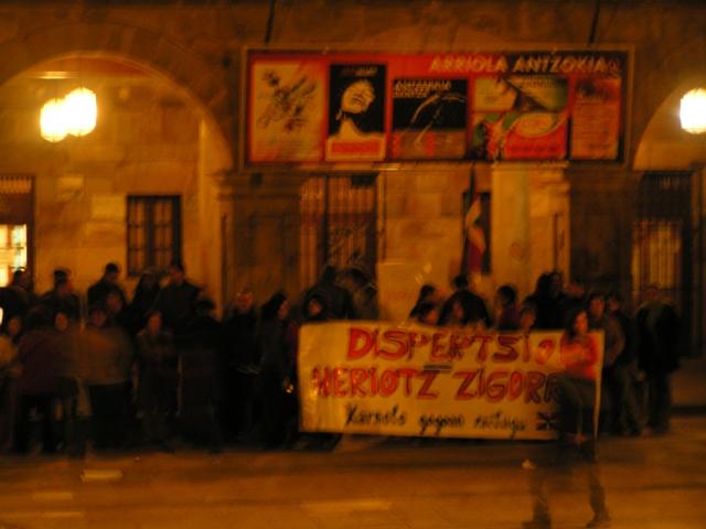Manifestacion en Elorrio por la no dispersion de los presos vascos