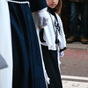 A young participant in a Semana Santa (Holy Week) procession in Madrid, Spain.
