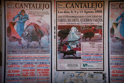 Bullfight ad in Segovia, Spain