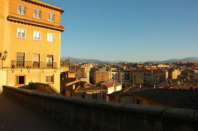 Sunset view of Segovia, Spain