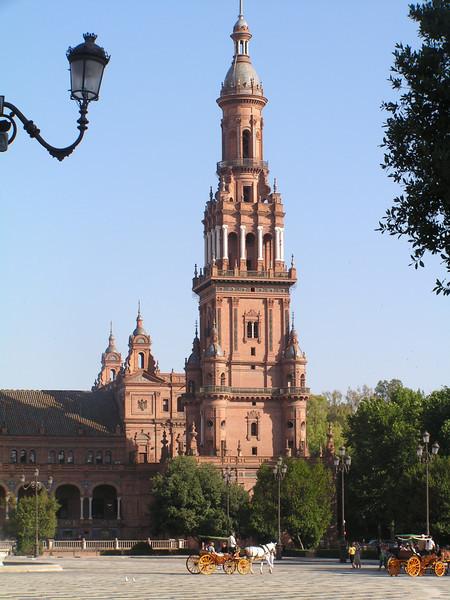 Plaza de España, aqui se rodo una escena de Star Wars