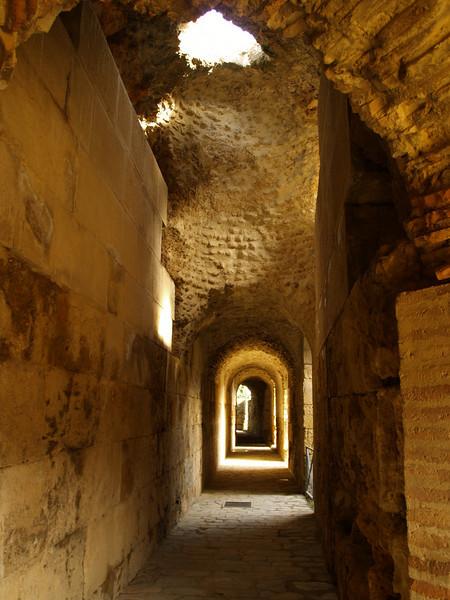 Interior del anfiteatro en Italica