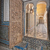 window and hallway, Casa de Pilatos, Seville