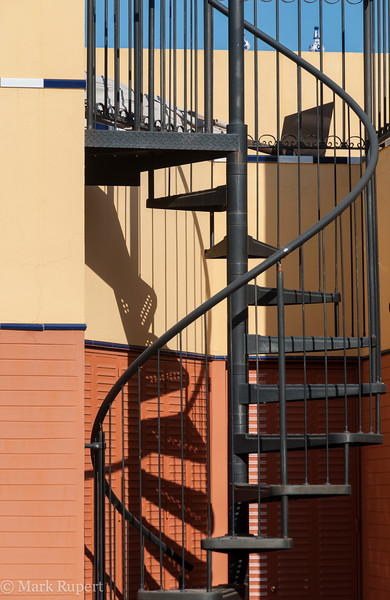 spiral staircase to terrace, Seville