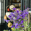 flowers outside the hat shop