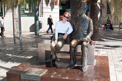 Malaga - Statue of Hans Christian Andersen