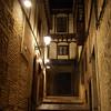 Calles de Toledo durante un paseo guiada nocturna