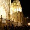 Procesiones en Semanan Santa saliendo de la catedral