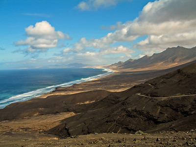 Fuerteventura, El Cofete coast.