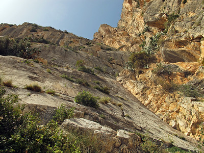 Climbing at Peñón de Ifach in Calpe