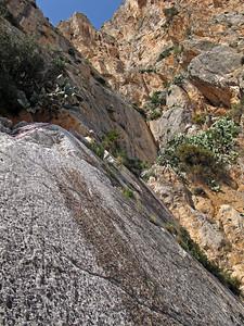 Climbing at Peñón de Ifach in Calpe