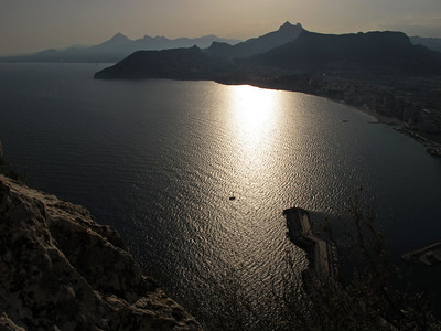 On top of the Peñón de Ifach