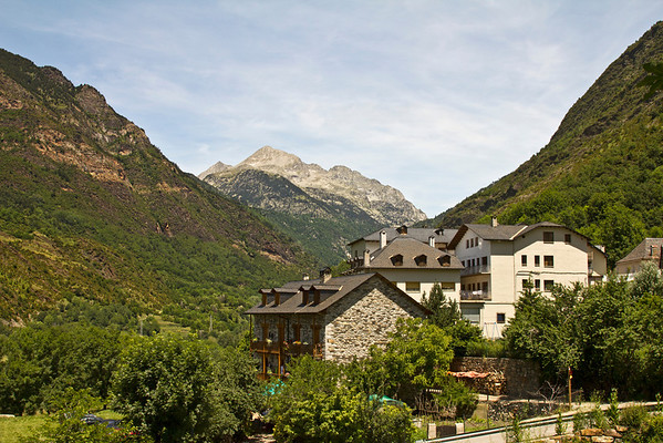 One of the many magnificent views while driving through the Pyrenees.