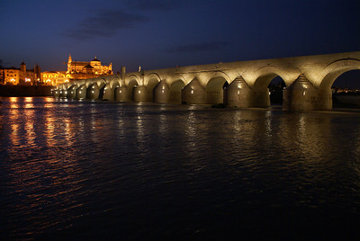 Roman bridge at night, Cordoba