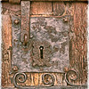 Medieval Door in the Region of Catalonia, Spain (1)