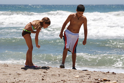 Madison and Dylan on beach