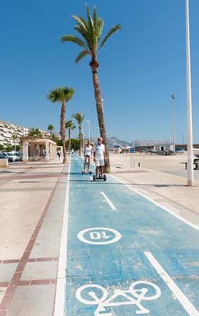 Cycleway along waterfront in Altea, Spain.