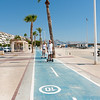 Cycleway along waterfront in Altea, Spain.