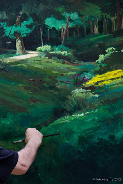 "viii certamen nacional de pintura rápida 2012, parque de el capricho, pintor: <a href=""http://ramoncordoba.com/"">ramón córdoba</a> (3er premio), madrid"