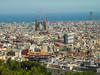 The park overlooks the city and provides a great view of the Sagrada Familia.