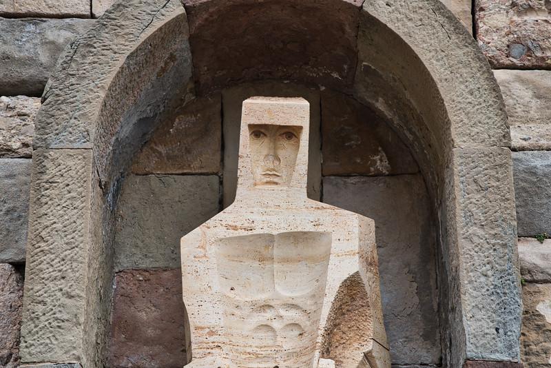 Montserrat - Statue of Saint George