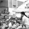 Parade float in Chipiona, Andalucia celebrating Nuestra Señora de Regla. September 1980.