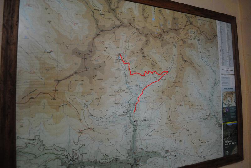 The route. First destination: Coma de Vaca.
