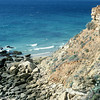 My favorite beach in the world.  The cliffs at Cape Trafalgar, Andalusia.  Olympus OM-1n, 50mm f/1.4, Kodachrome 25.