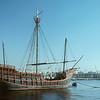 Replica of the Santa Maria in Barcelona Harbor, 1977