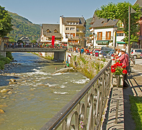 A festival in a small Spanish town in the Pyrenees. The river runs through most of the towns we visited.