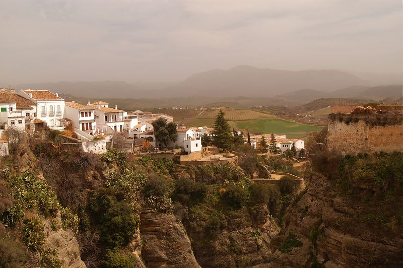 The beautiful town of Ronda, high in the mountains of Spain.