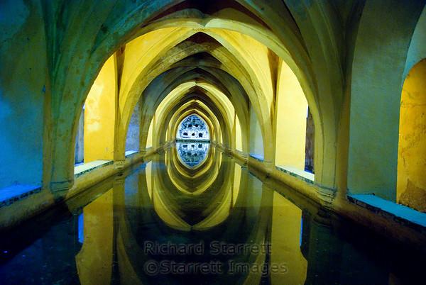 Alcazar Palace, Seville.  The queen's bath