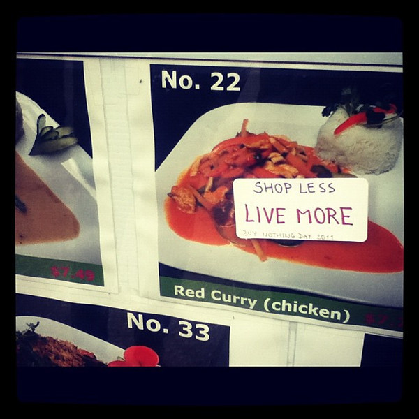 Shop less live more