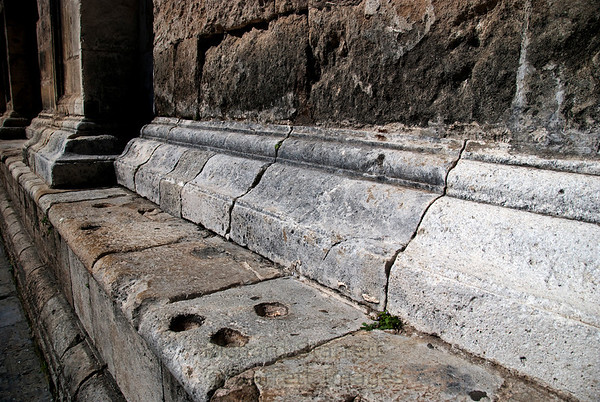 Centuries ago people used the cathedral stone work to grind grain.