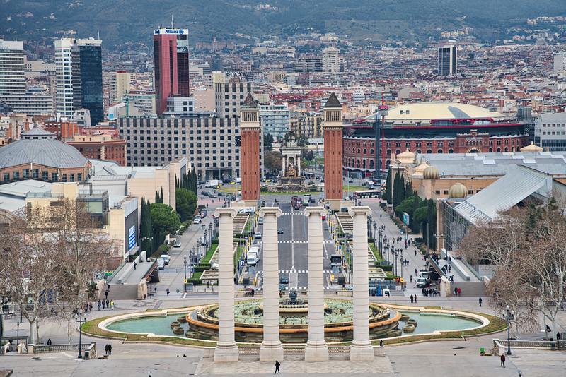 Barcelona Plaza Overlook