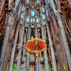 Inside the Sagrada Família - Barcelona, Catalonia, Spain