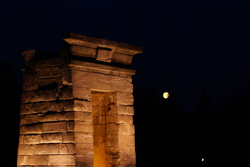 Nighttime at the Temple Debod, Madrid