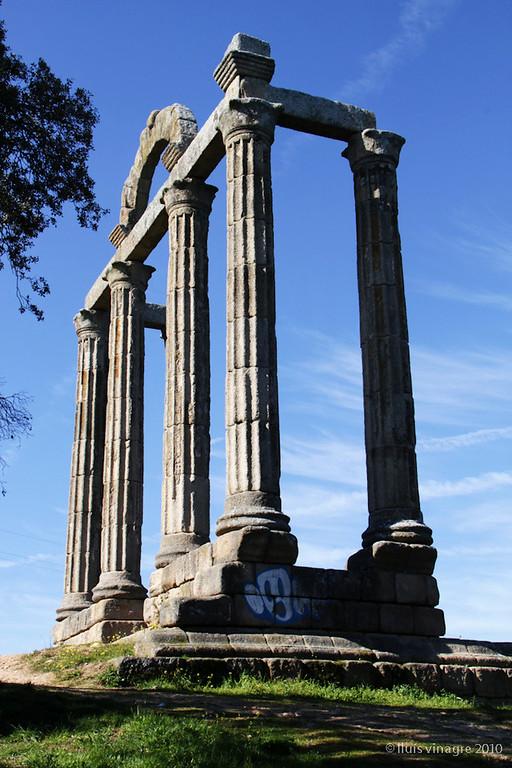 ruinas romanas de augustobriga, embalse de valdecañas, cáceres