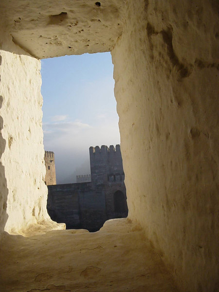 Openings in the fortress for guards at the Alhambra - Grenada - Spain