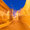 Nighttime in streets Lliber Spain