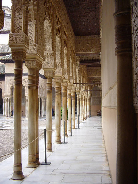 Halls of The Alhambra carved by hand at this landmark - Grenada - Spain