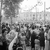 September 1979, Avenida de Regla, Chipiona, Andalusia.  The crowd waiting to see the return of Nuestra Señorita de la Regla to the cathedral.  The final fling of the the annual tourist season.<br /> <br /> 6x6 Tri-X shot in a Yashicamat 124G